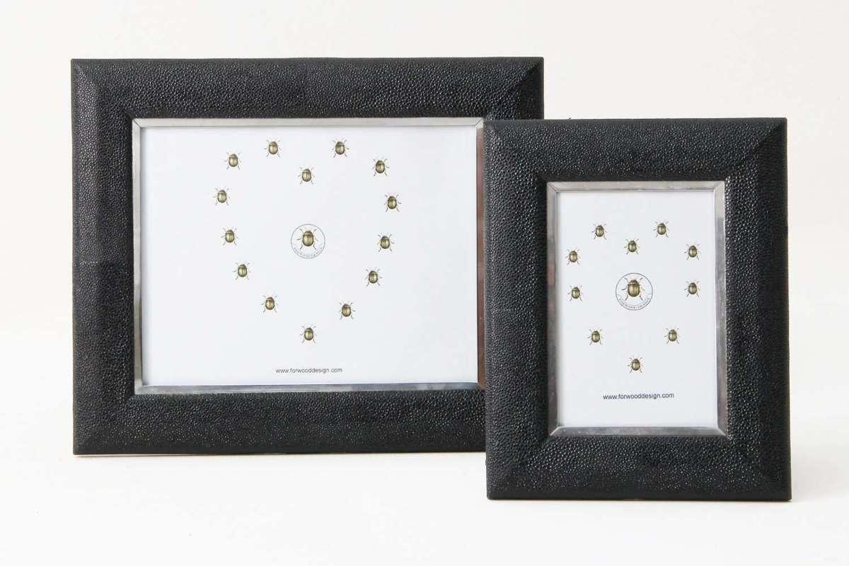 Bella Photo Frame in Caviar Black Shagreen by Forwood Design 2