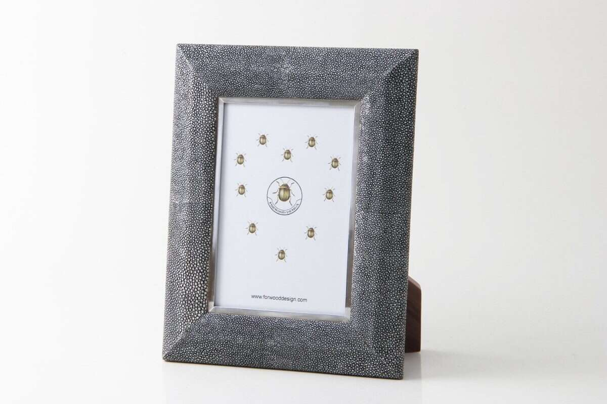 Bella Photo Frame in Charcoal Shagreen by Forwood Design 1