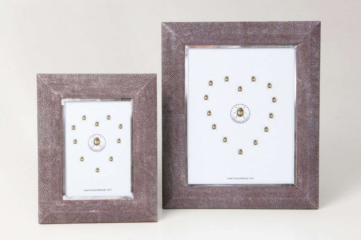 Bella Photo Frame in Mulberry Shagreen by Forwood Design 6