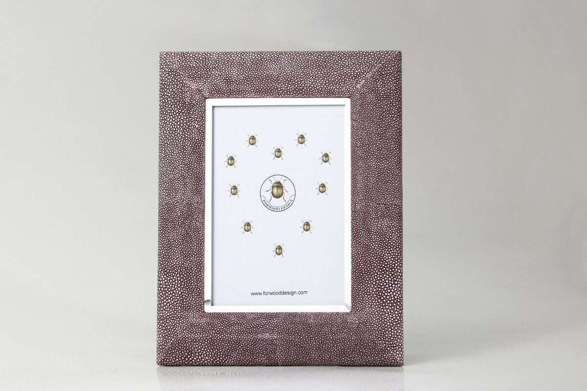 Bella Photo Frame in Mulberry Shagreen by Forwood Design 5