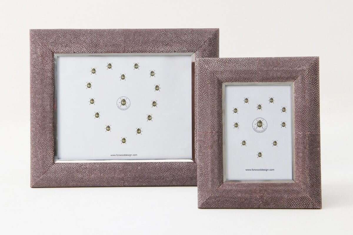 Bella Photo Frame in Mulberry Shagreen by Forwood Design 4
