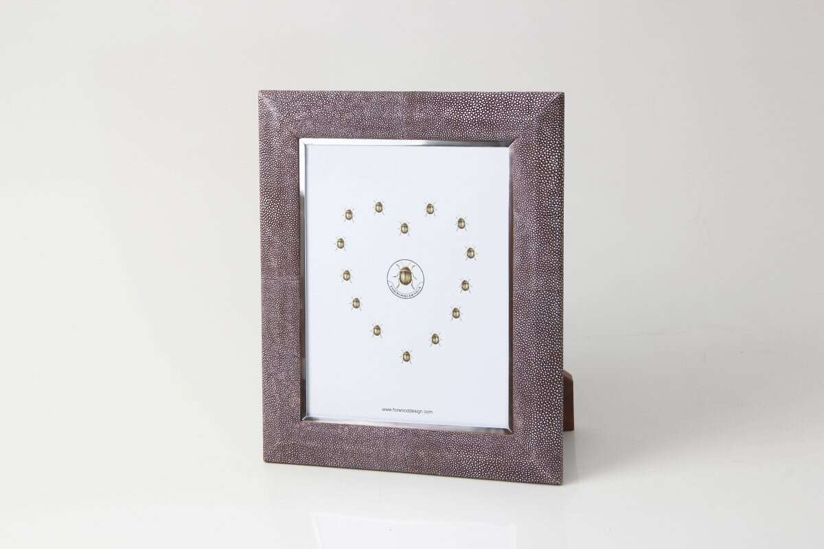 Bella Photo Frame in Mulberry Shagreen by Forwood Design 3