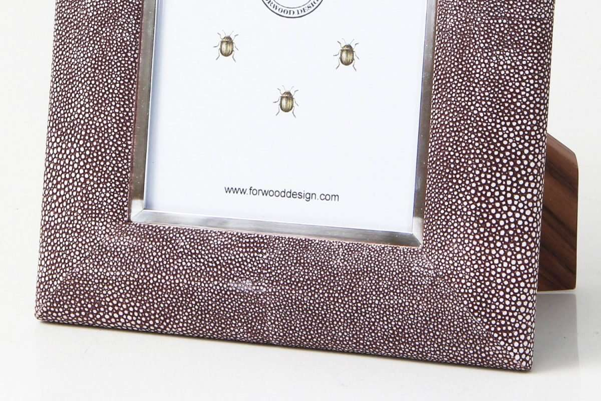 Bella Photo Frame in Mulberry Shagreen by Forwood Design 2