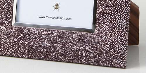 Bella Photo Frame in Mulberry Shagreen by Forwood Design 1