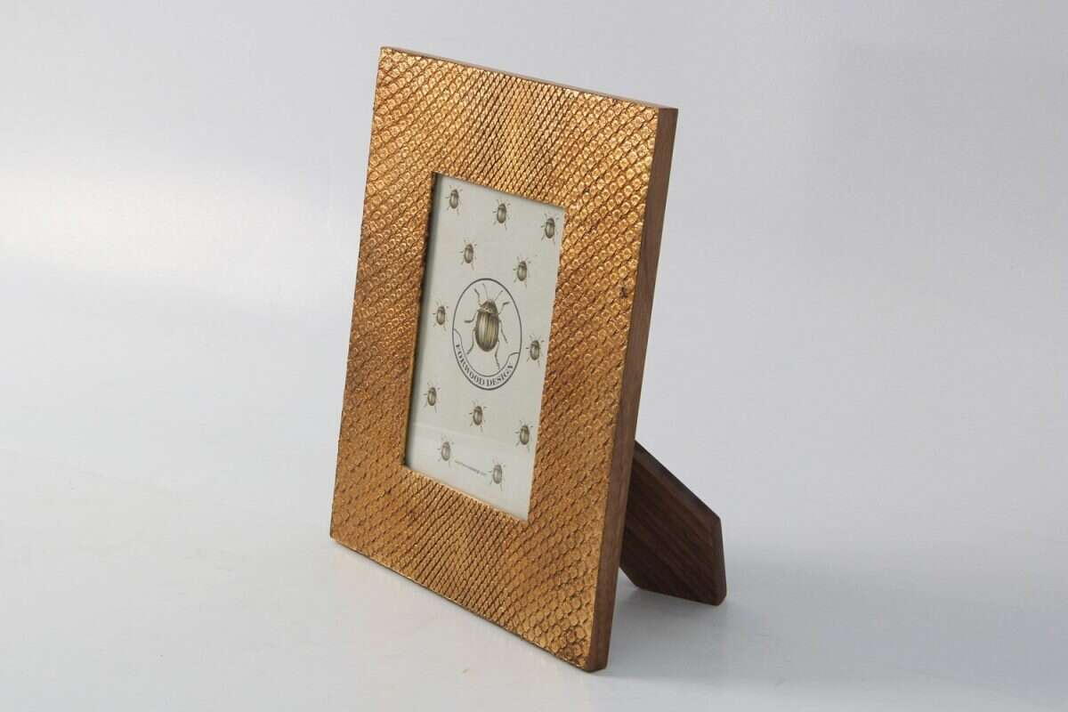 Photo Frame in Antique Gold Boa by Forwood design 2