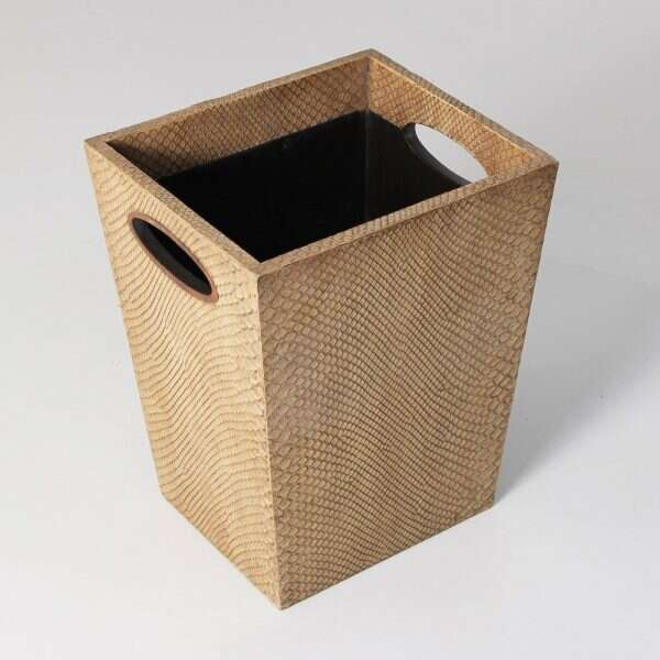 Waste Bin in Boa Antique Ivory by Forwood Design 5