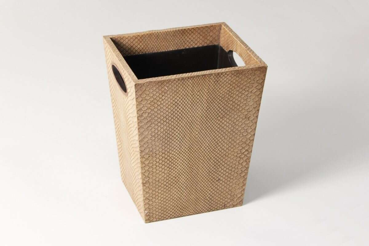 Waste Bin in Boa Antique Ivory by Forwood Design 3