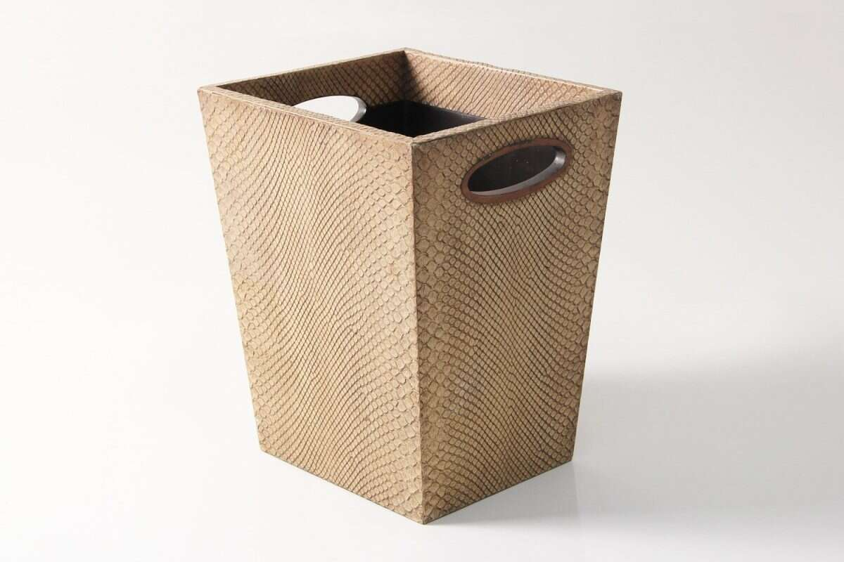 Waste Bin in Boa Antique Ivory by Forwood Design 2