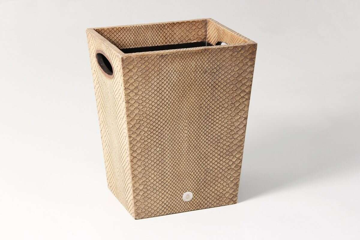 Waste Bin in Boa Antique Ivory by Forwood Design 1