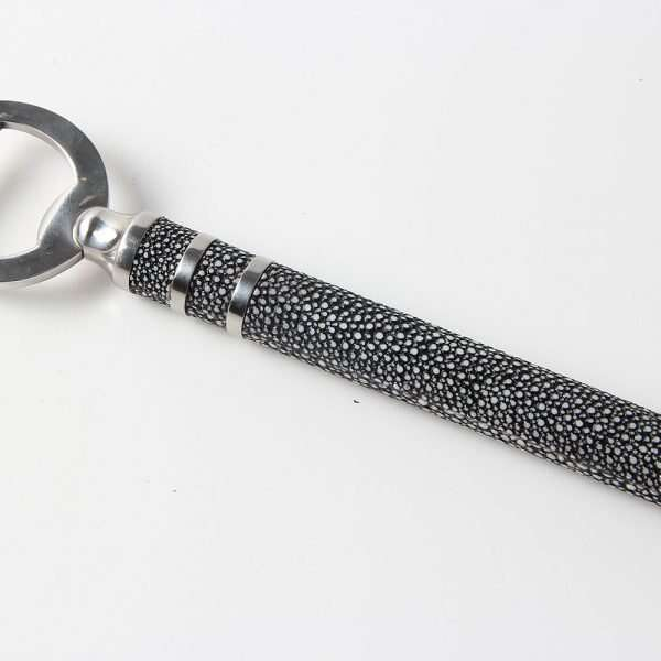 Bottle Opener in Charcoal Shagreen by Forwood Design 6