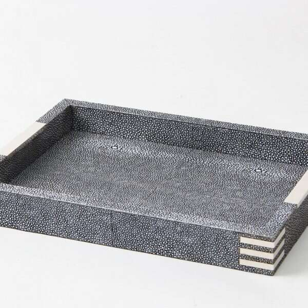 Chandler Desk Tray in Charcoal Shagreen by Forwood Design 1