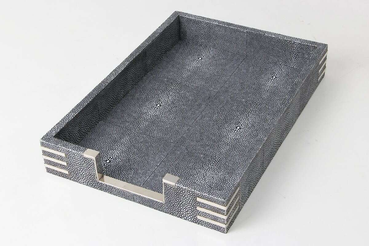 Shagreen In Tray for Desk