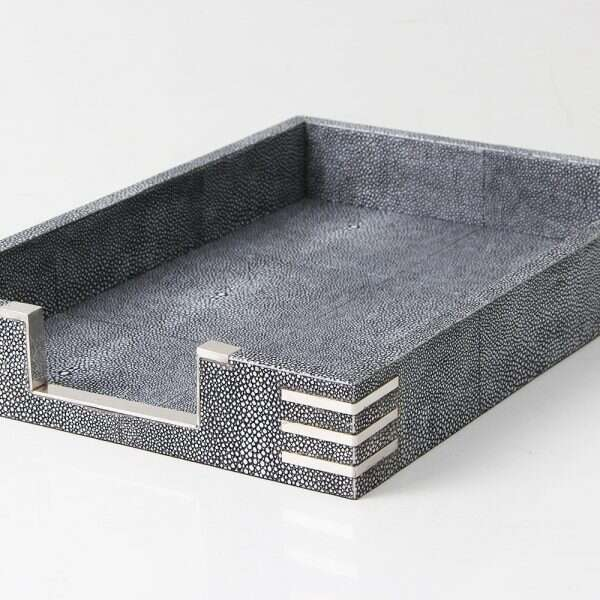 Chandler In-Tray in Charcoal Shagreen by Forwood Design 2