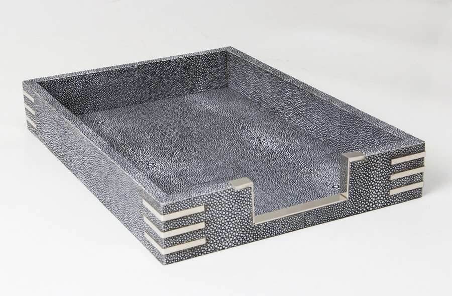 Chandler In-Tray in Charcoal Shagreen by Forwood Design 1