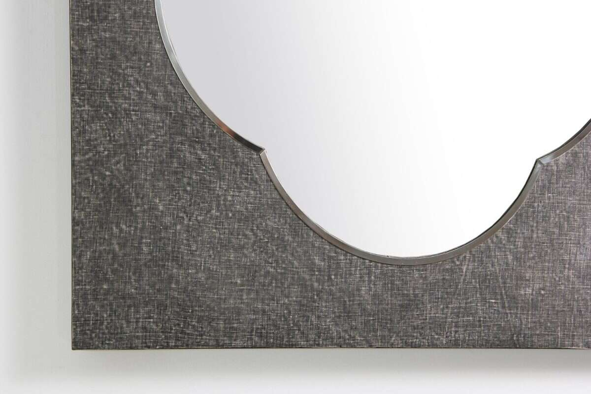 Ely Mirror in Charcoal Linen by Forwood Design 2