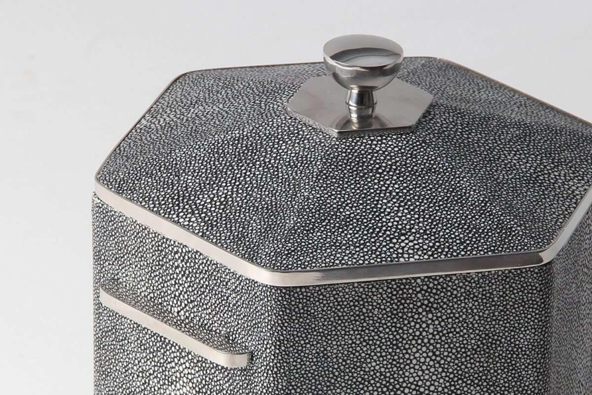 Ice Bucket in Charcoal Shagreen by Forwood Design 5