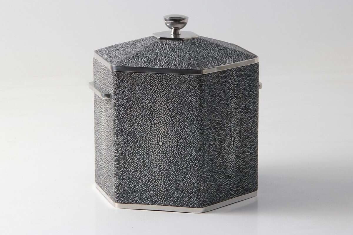 Ice Bucket in Charcoal Shagreen by Forwood Design 2