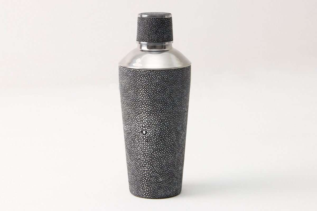 Cocktail Shaker in Charcoal Shagreen by Forwood Design 6