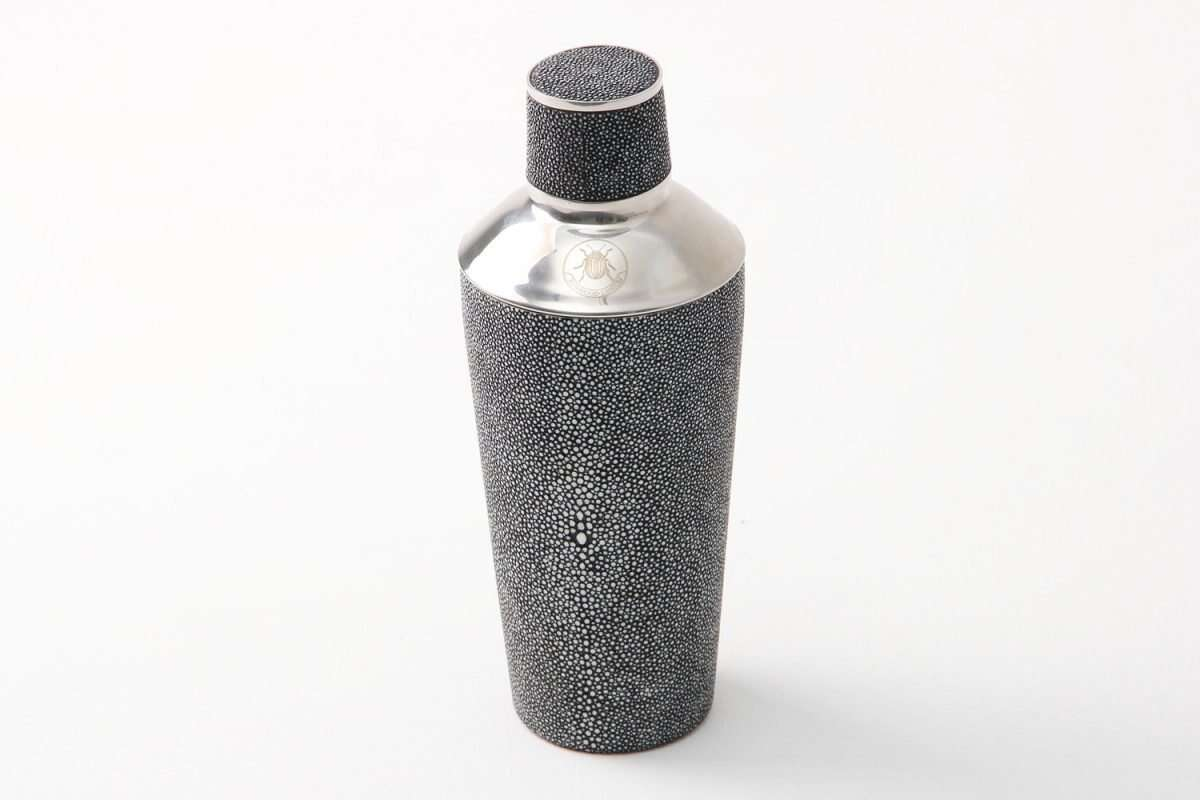 Cocktail Shaker in Charcoal Shagreen by Forwood Design 2