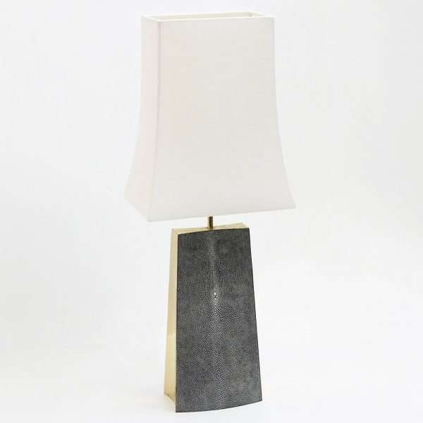 Madison Table Lamp in Charcoal Shagreen by Forwood Design 1