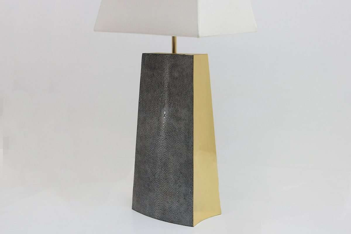 Madison Table Lamp in Charcoal Shagreen by Forwood Design 3