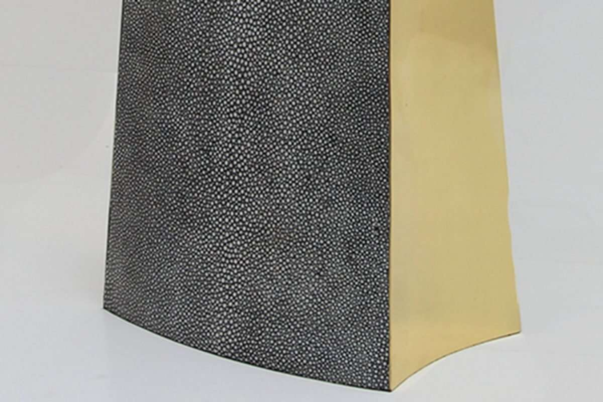 Madison Table Lamp in Charcoal Shagreen by Forwood Design 2