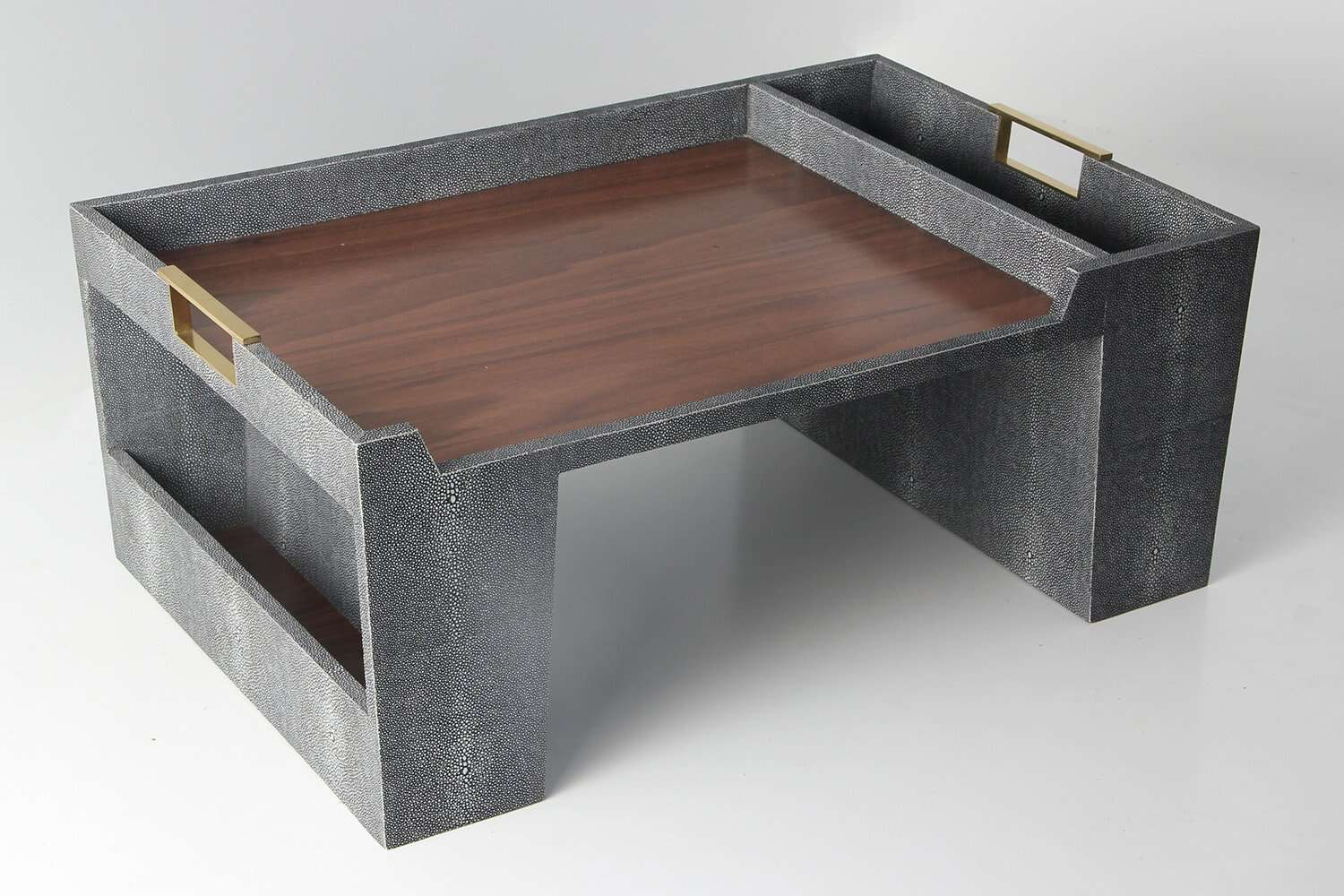 Bed Tray In Charcoal Shagreen A Stylish Bed Tray By Forwood Design
