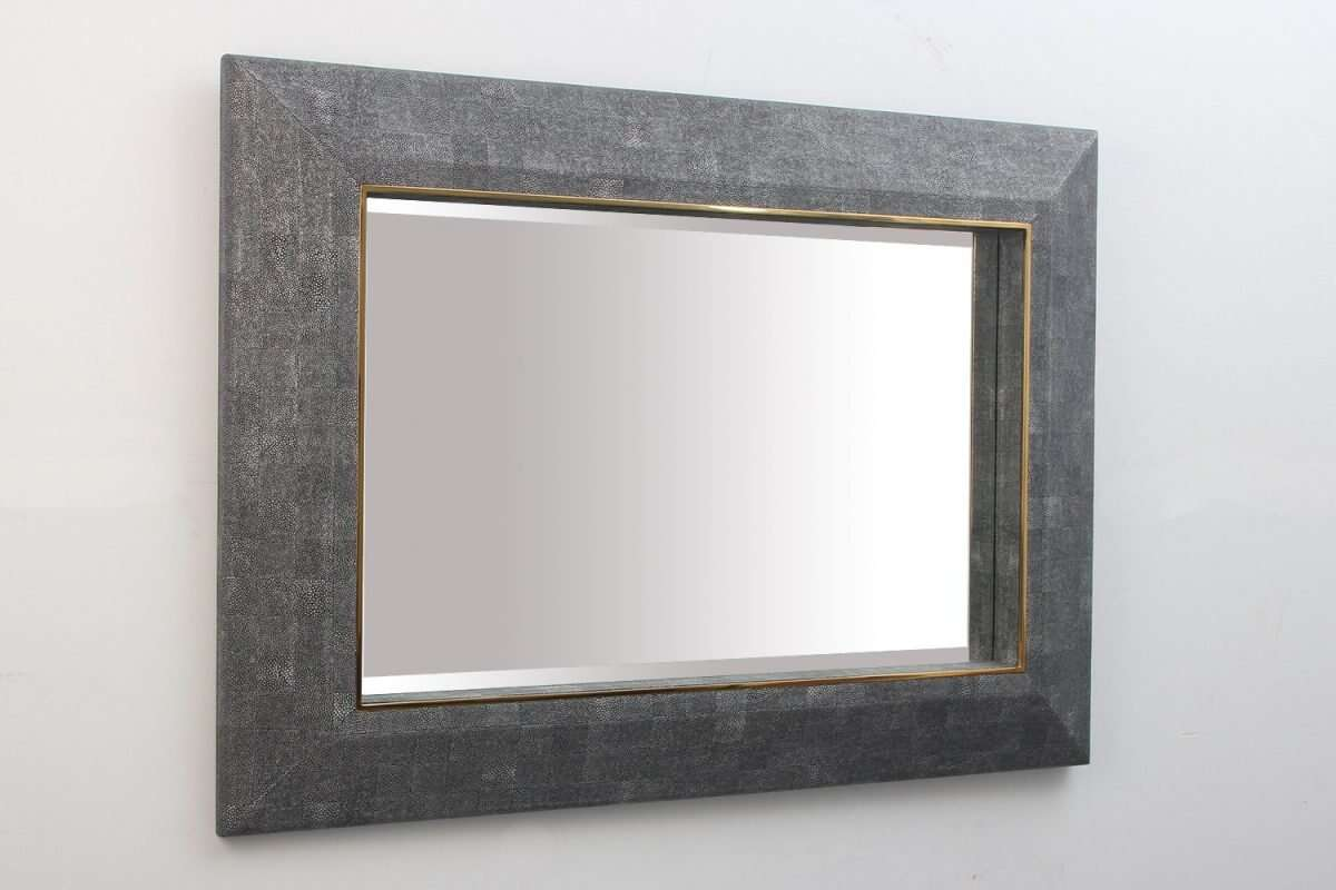 Henry Mirror in Charcoal Shagreen by Forwood Design 6