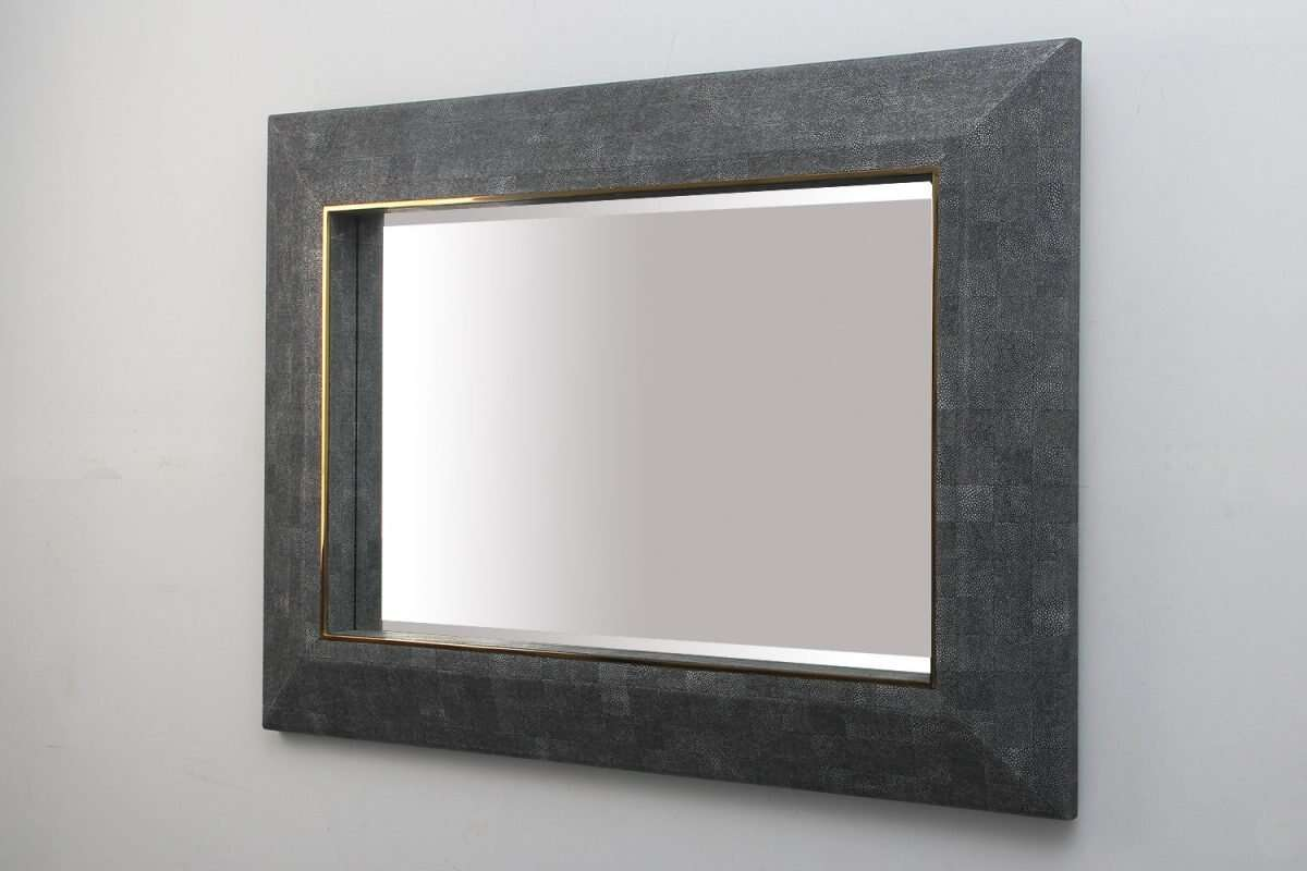 Henry Mirror in Charcoal Shagreen by Forwood Design 5