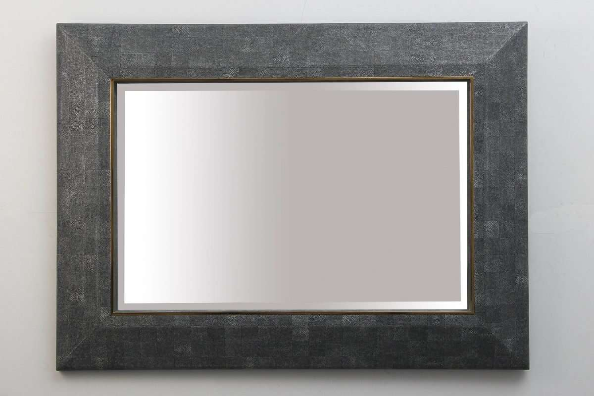 Henry Mirror in Charcoal Shagreen by Forwood Design 4