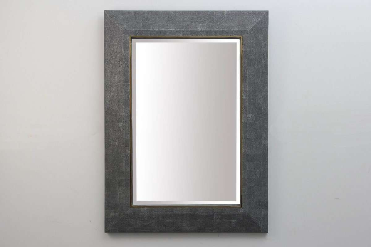 Henry Mirror in Charcoal Shagreen by Forwood Design 3
