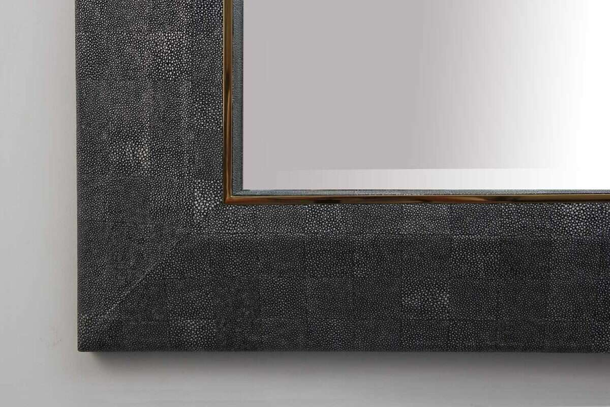 Henry Mirror in Charcoal Shagreen by Forwood Design 2