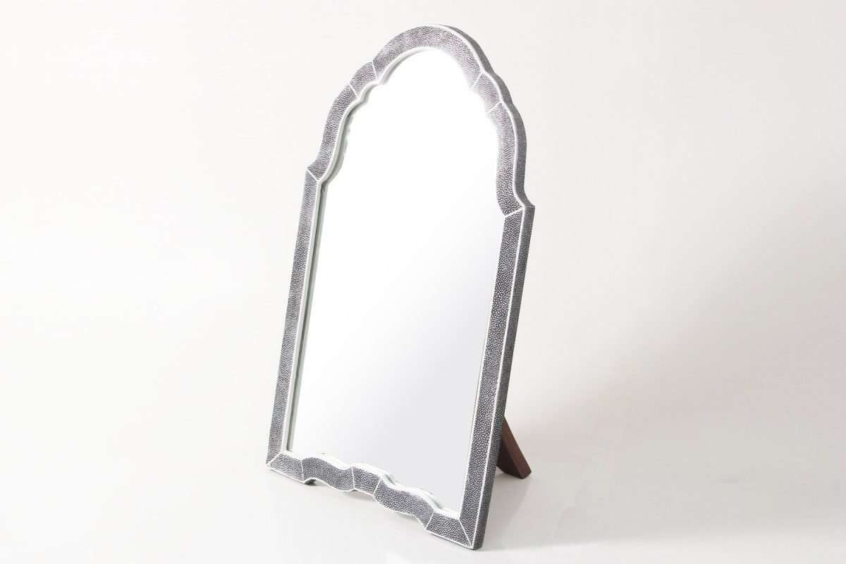 Arden Dressing Table Mirror in Charcoal Shagreen by Forwood Design 4