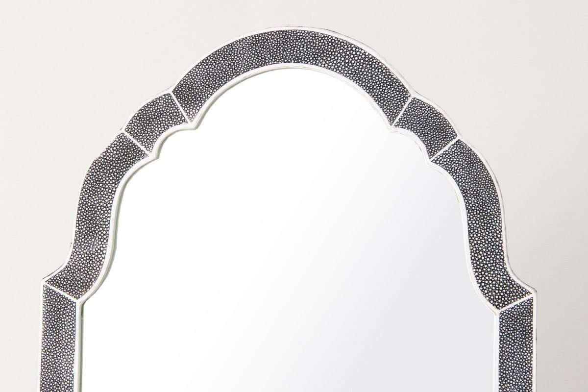 Arden Dressing Table Mirror in Charcoal Shagreen by Forwood Design 3
