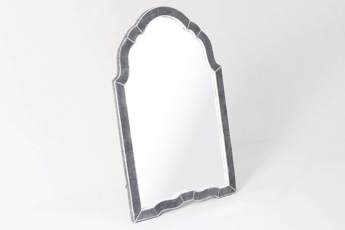 Arden Dressing Table Mirror in Charcoal Shagreen by Forwood Design 2