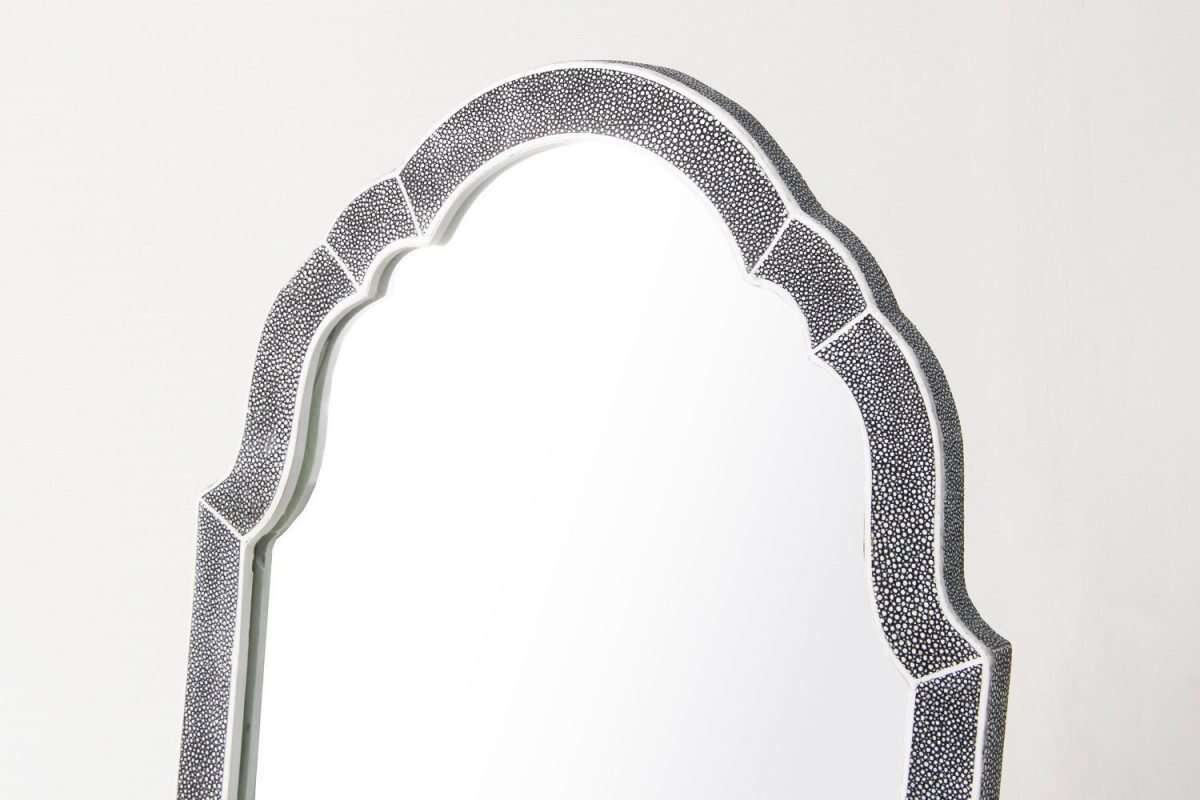 Arden Dressing Table Mirror in Charcoal Shagreen by Forwood Design 1