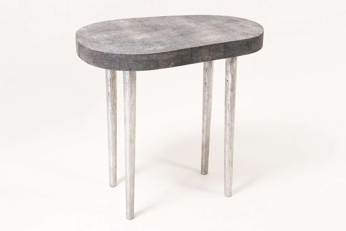 Mango Side Table in Charcoal Shagreen by Forwood Design 5