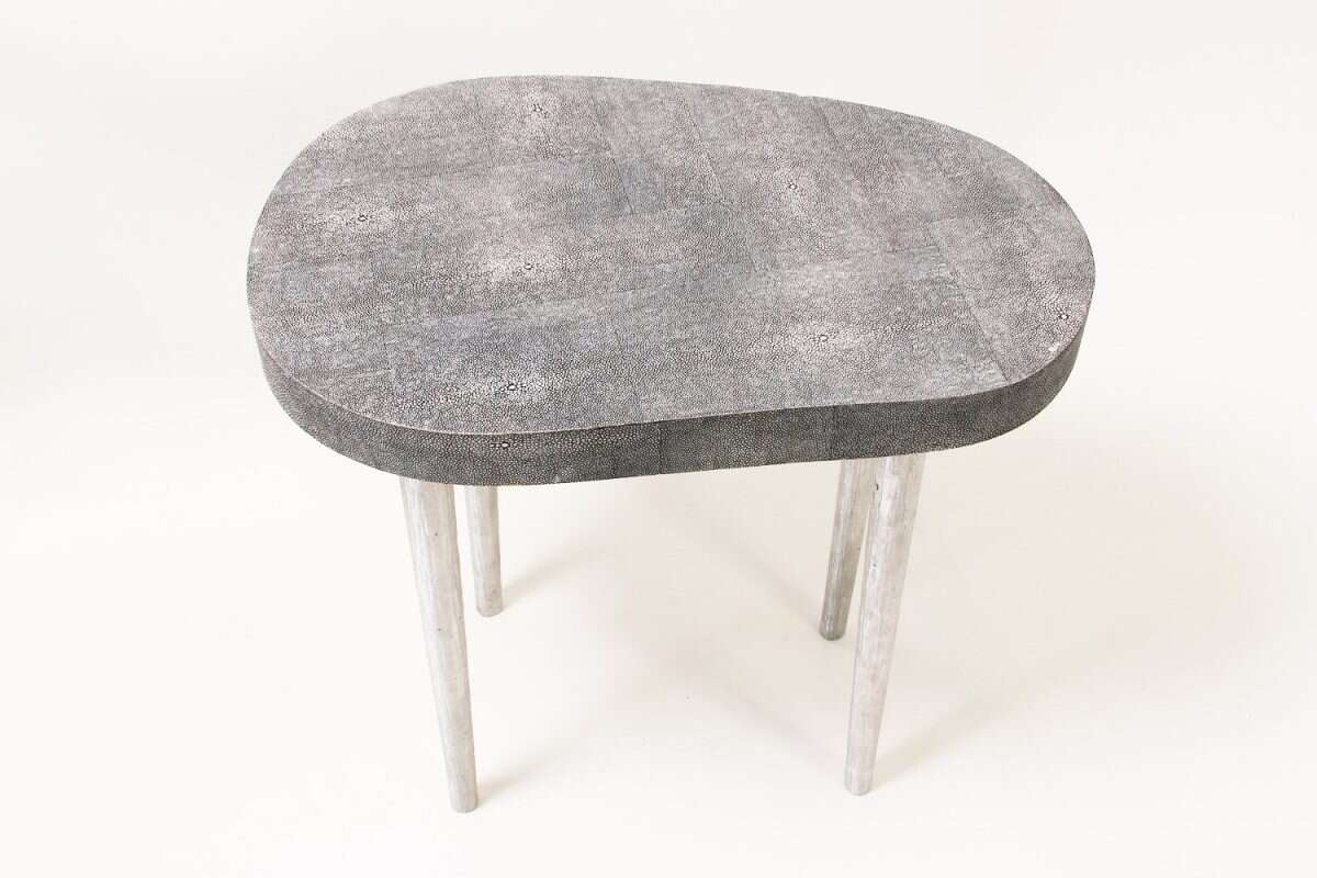 Mango Side Table in Charcoal Shagreen by Forwood Design 4