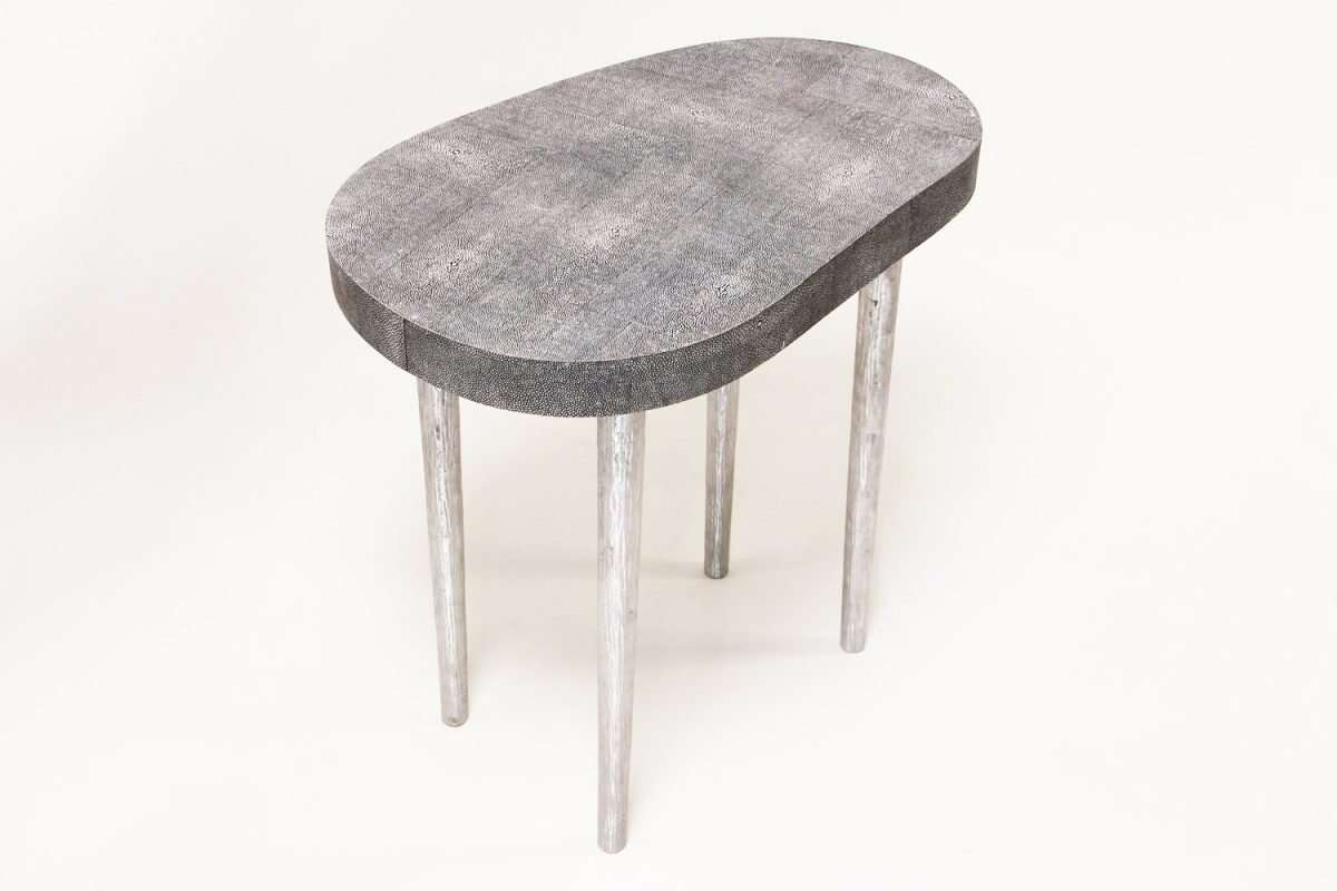 Mango Side Table in Charcoal Shagreen by Forwood Design 2