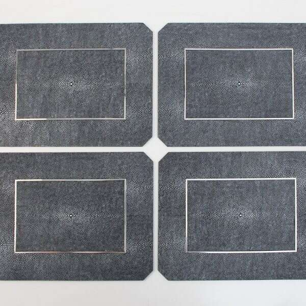 Chandler Place mats in Charcoal Shagreen by Forwood Design 7