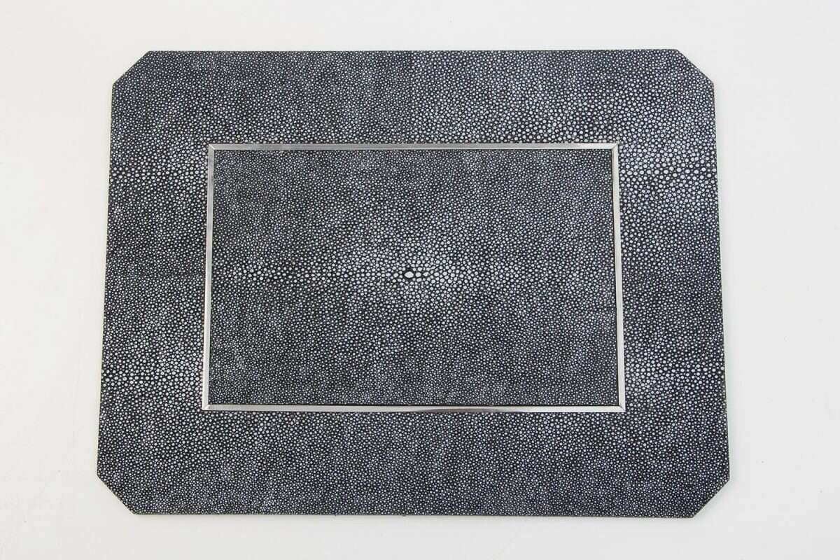 Chandler Place mats in Charcoal Shagreen by Forwood Design 4