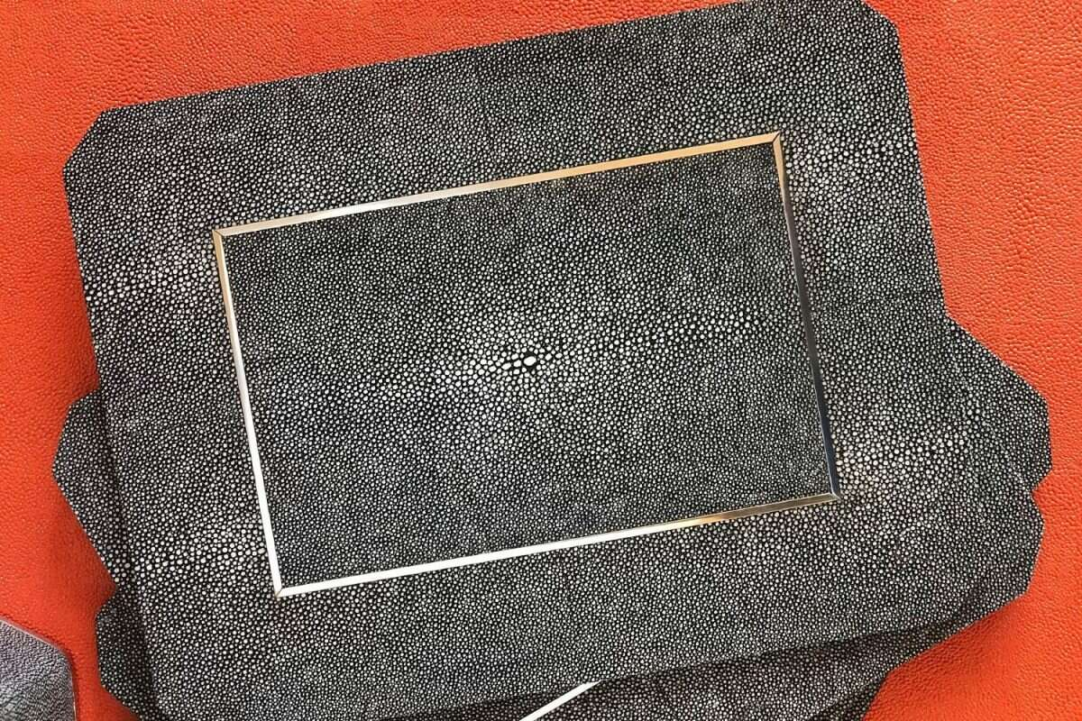 Chandler Place mats in Charcoal Shagreen by Forwood Design 3
