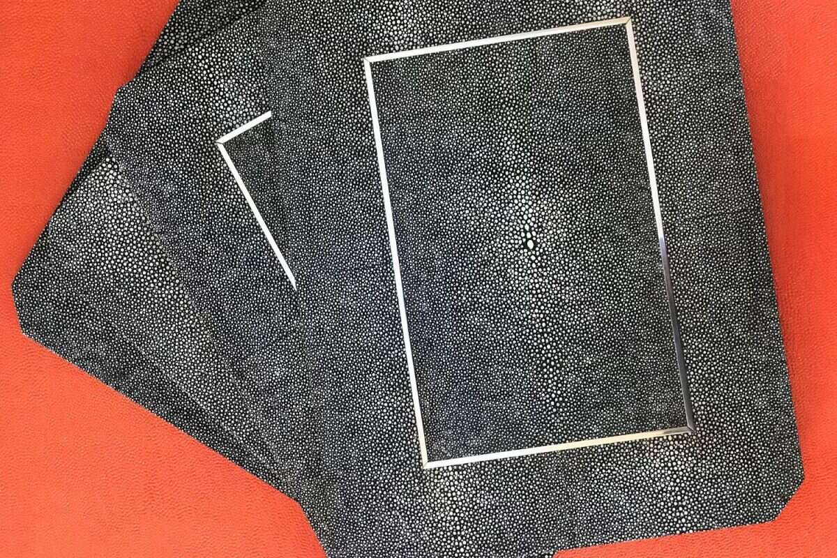 Chandler Place mats in Charcoal Shagreen by Forwood Design 1