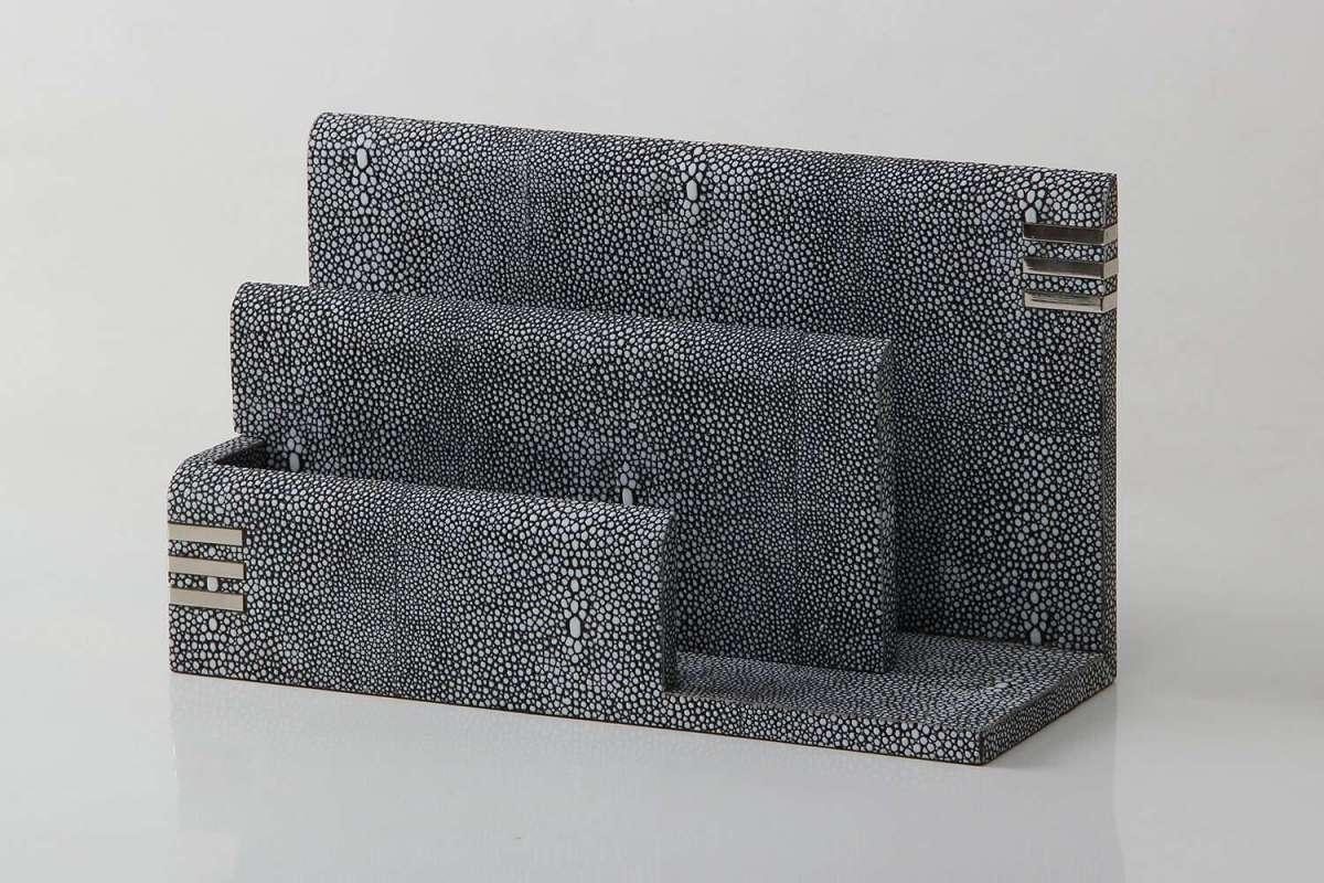 modern leather Letter Rack by Forwood Design