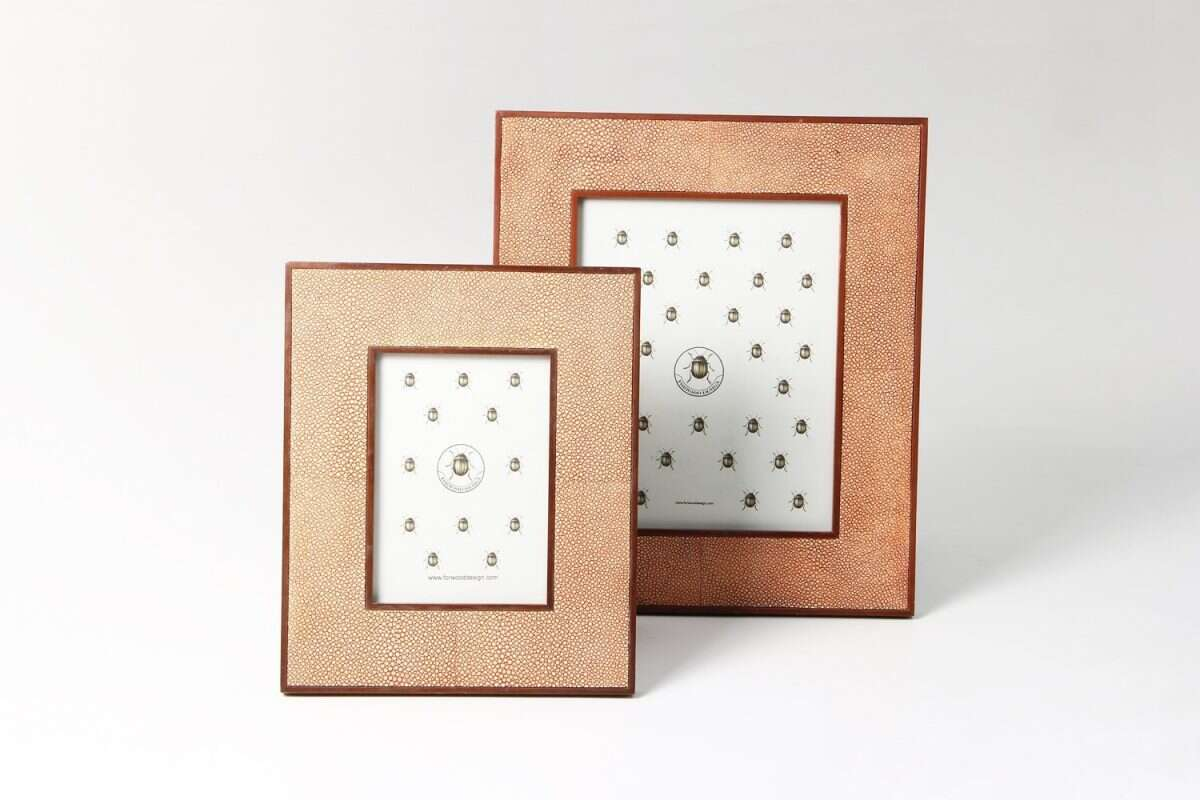 Classic Photo Frames in Coral Shagreen by Forwood Design 4