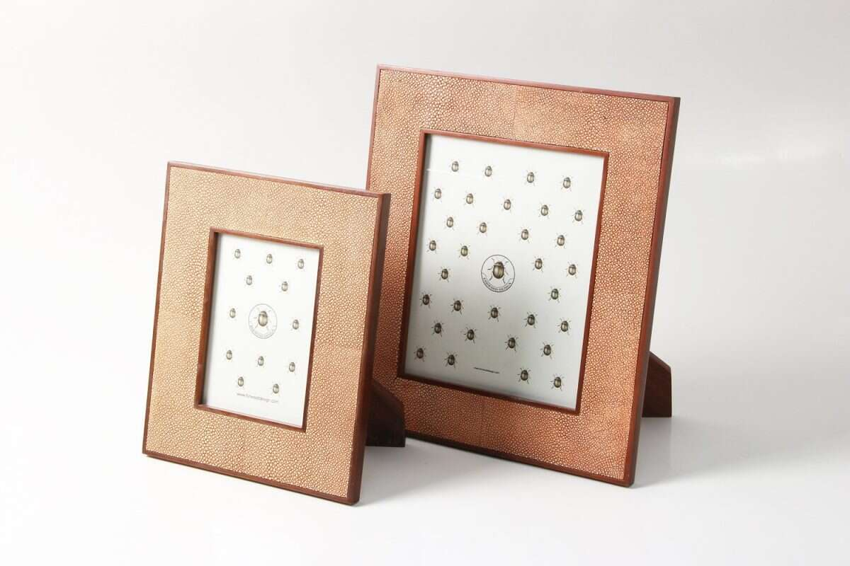 Classic Photo Frames in Coral Shagreen by Forwood Design 3