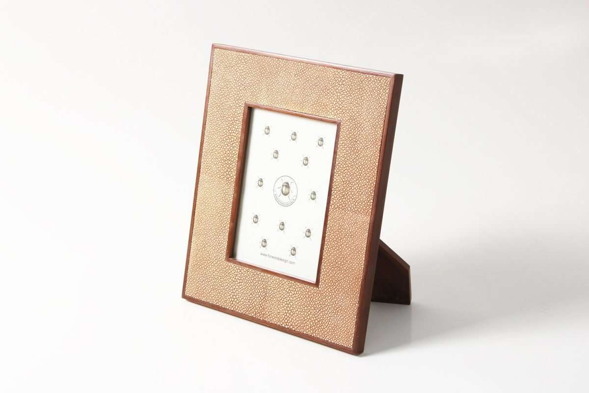 Classic Photo Frames in Coral Shagreen by Forwood Design 2