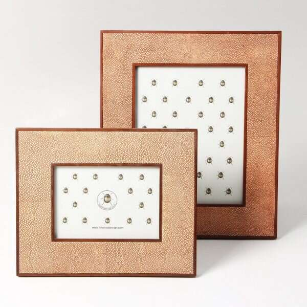 Classic Photo Frames in Coral Shagreen by Forwood Design 1