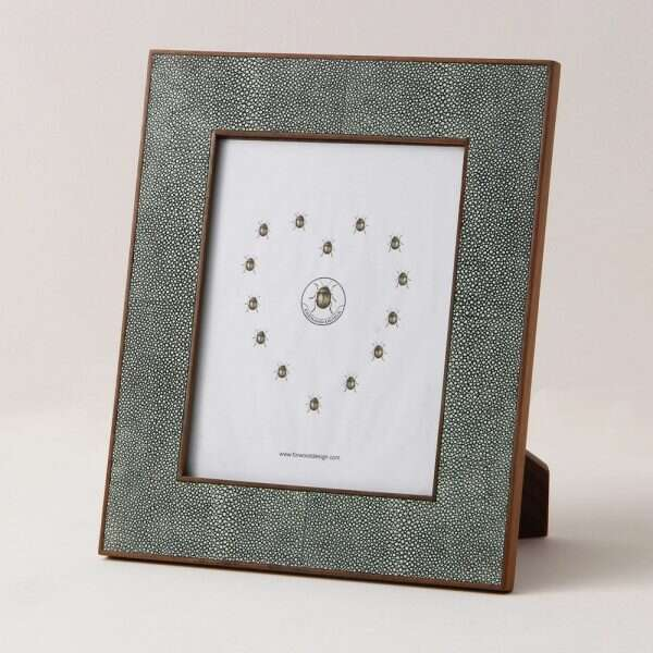 Classic Photo Frames in Lincoln Green Shagreen by Forwood4 Design