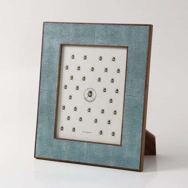 Classic Photo Frame in Teal Shagreen by Forwood Design 6